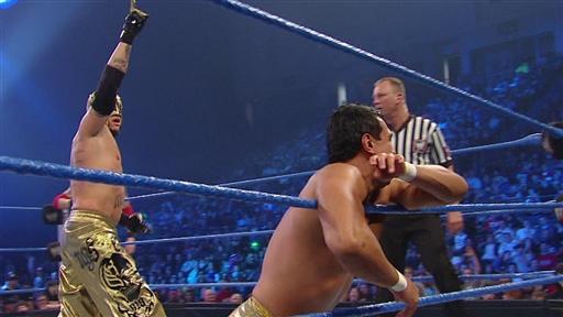 [Edge and Rey Mysterio Vs. Alberto Del Rio]