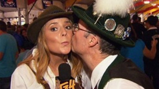 Grace Helbig Dances at Oktoberfest Video