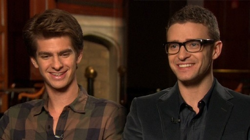 [Justin Timberlake & Andrew Garfield Talk 'the Social Network']