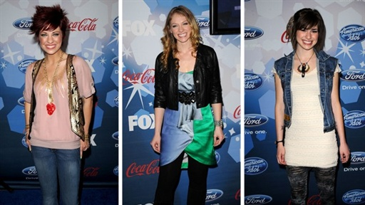 ['American Idol' Top 12 Party: Lacey Brown, Didi Benami & Siobhan]