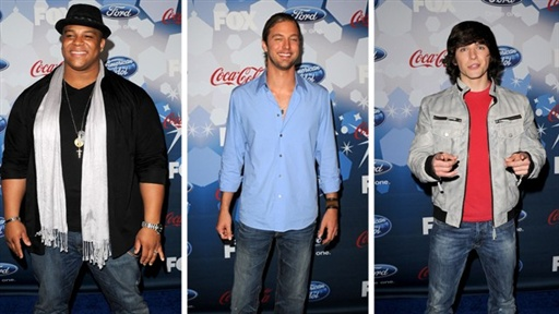 'American Idol' Top 12 Party: Michael Lynche, Casey James & Tim Video