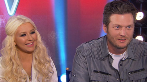 [Christina Aguilera & Blake Shelton Talk 'The Voice' Season 2]
