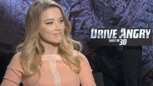 Nicolas Cage and Amber Heard Talk Drive Angry view on break.com tube online.