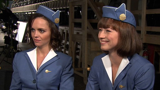 Christina Ricci & Karine Vanasse Talk Sexy 'Pan Am' Wardrobe & F view on break.com tube online.