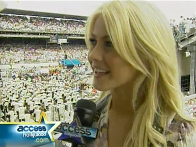 Julianne Hough Talks Singing National Anthem Video