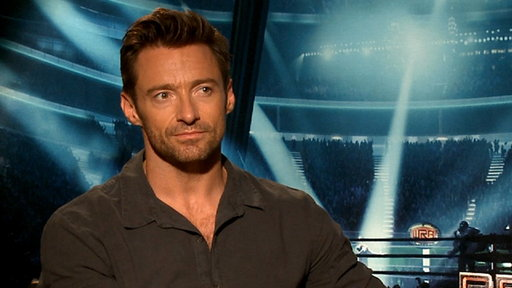 [Hugh Jackman On 'Real Steel' - My Kids 'Really Connected' With T]