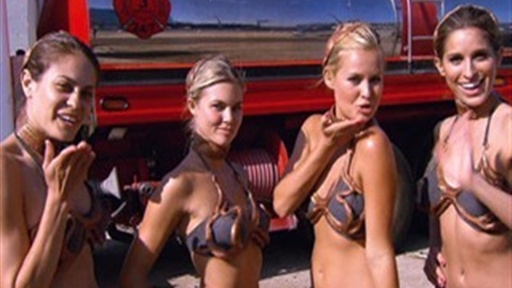 Slave Leia and Sara Jean Underwood: Star Wars Charity Car Wash Video