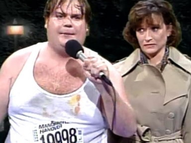 [Chris Farley and Mike Myers as Rick and Kendall]