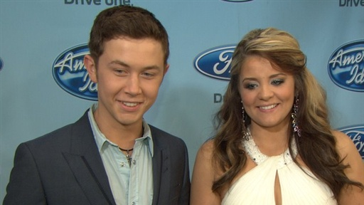 Lauren Alaina & Scotty McCreery Battle It Out On 'American Idol' Video