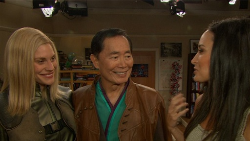 Katee Sackhoff & George Takei Battle It Out On 'The Big Bang The Video