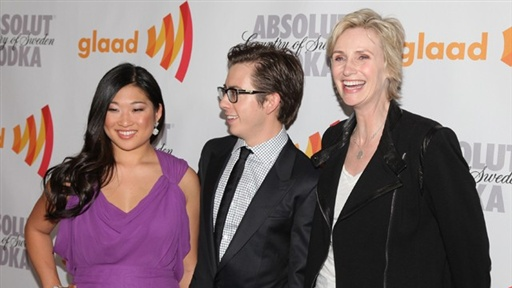 2010 LA GLAAD Media Awards Red Carpet: 'Glee' Is Glad for Honor view on break.com tube online.