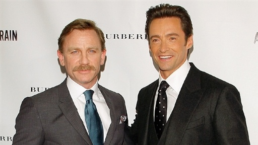 [Hugh Jackman and Daniel Craig's 'a Steady Rain,' Broadway Openin]