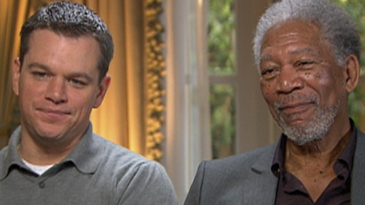 Matt Damon and Morgan Freeman Talk Emotional 'Invictus' Video