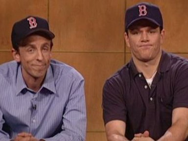 [Matt Damon and Seth Meyers]