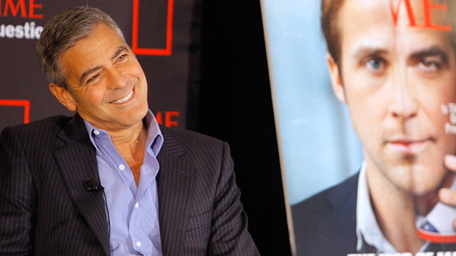 [George Clooney Talks Working With Ryan Gosling in 'The Ides of M]