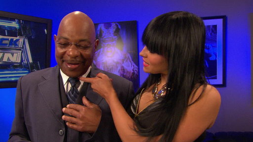 [Aksana Approaches SmackDown General Manager Theodore Long]