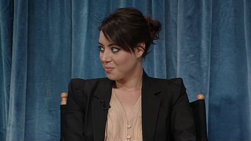 [Aubrey Plaza Stares Down Joe Biden]
